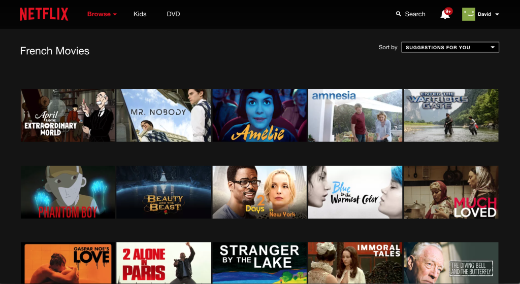 Netflix Hidden Categories