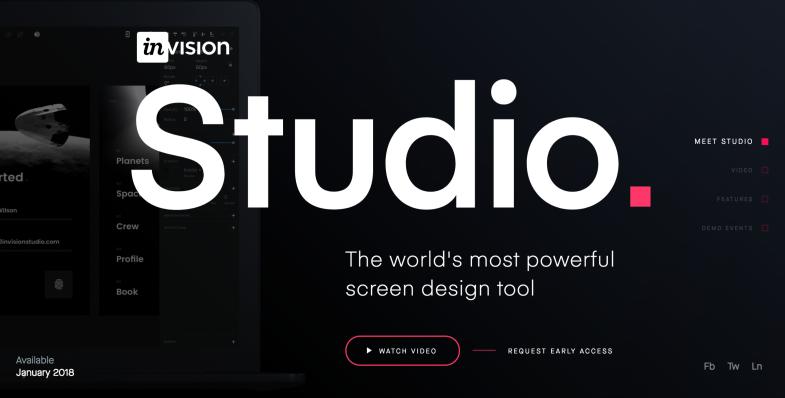 Invision Studio Promo Site Image